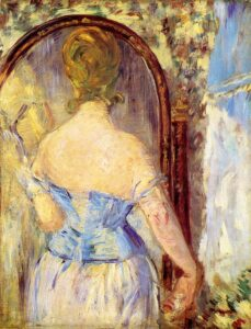 Edouard Manet, Woman Before a Mirror, 1877, Guggenheim Museum, New York City, USA.