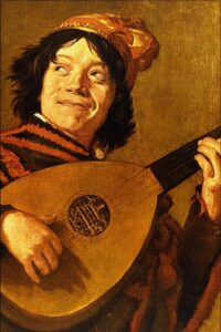 Judith Leyster, Young man playing the lute (copy of Lute Player by Frans Hals), Rijksmuseum, Amsterdam, Netherlands.