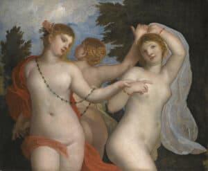Alessandro Varotari (Il Padovanino), The Three Graces, c.1620-1640. Private Collection.