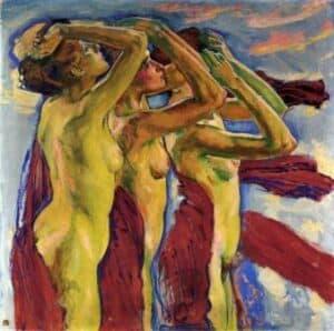 Koloman Moser, The Three Graces, date unknown, Private Collection. As três graças