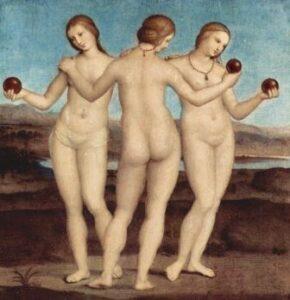 Rafael, The Three Graces, 1504-5, Condé Museum.