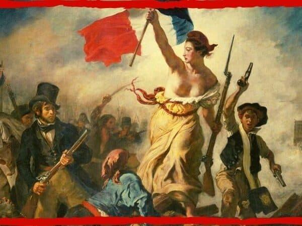 a liberdade guiando o povo capa