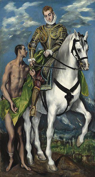 São Martinho e o mendigo, El Greco
