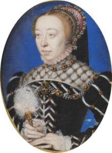 Catarina de Médici, retrato atíbuído a François Clouet.