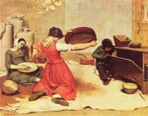 Gustave Courbet Mulheres Peneirando Trigo