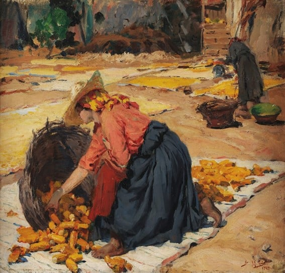 José Malhoa Milho ao sol (1927)