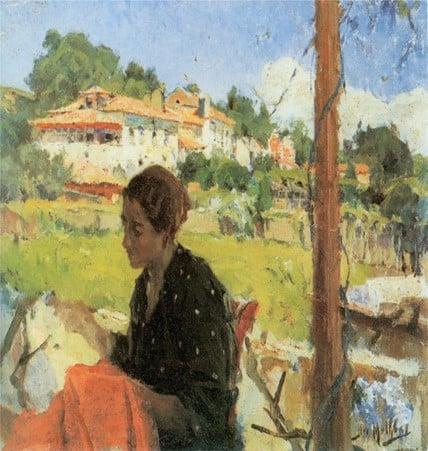 José Malhoa À sombra da parreira (1926)