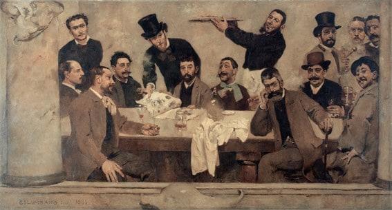O Grupo do Leão (1885), Columbano Bordalo Pinheiro