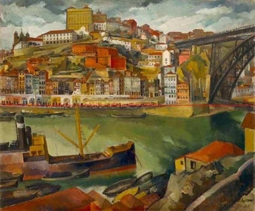 Dordio Gomes Paisagem do Douro, 1936