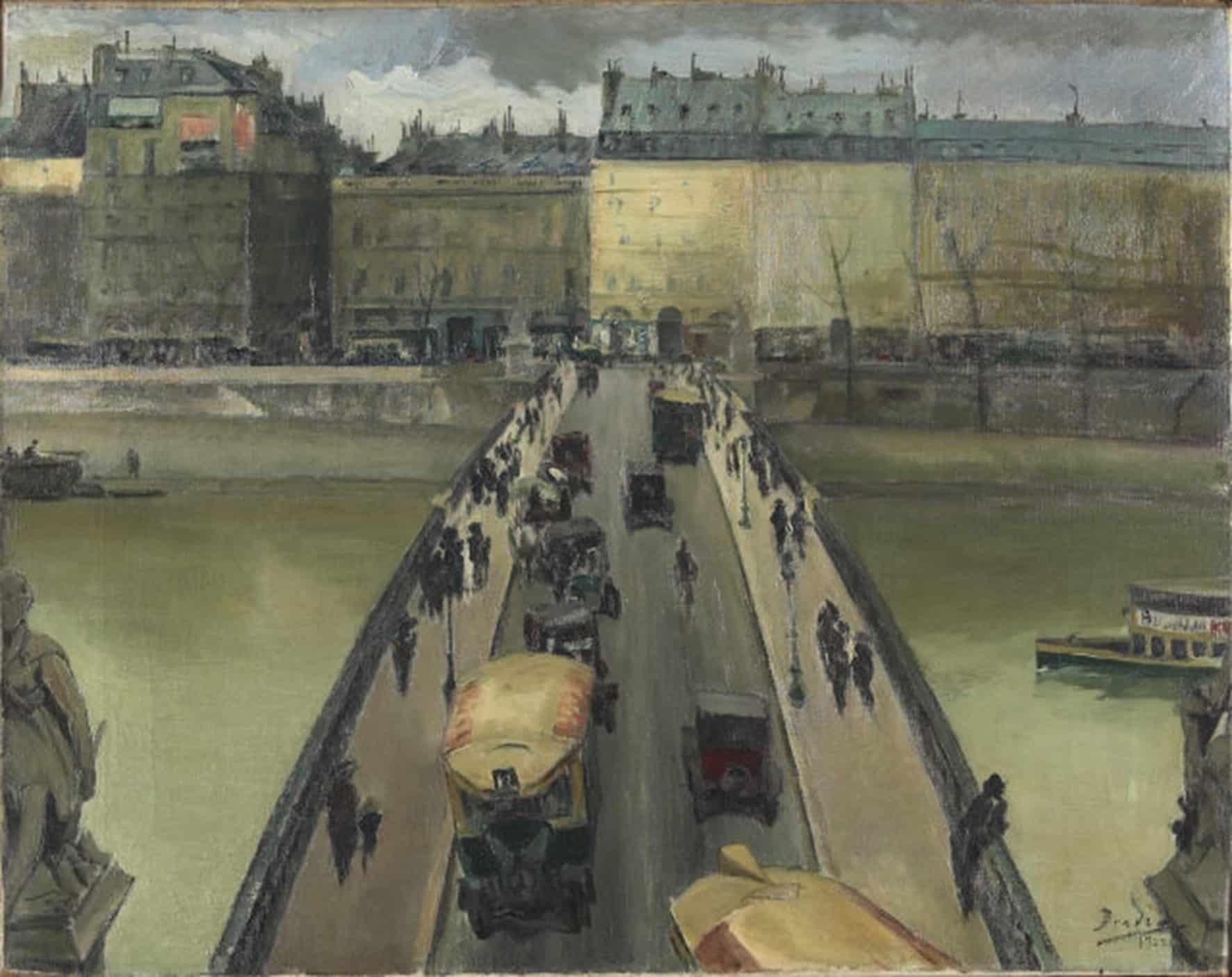 A Ponte do Carrousel, Paris, 1922