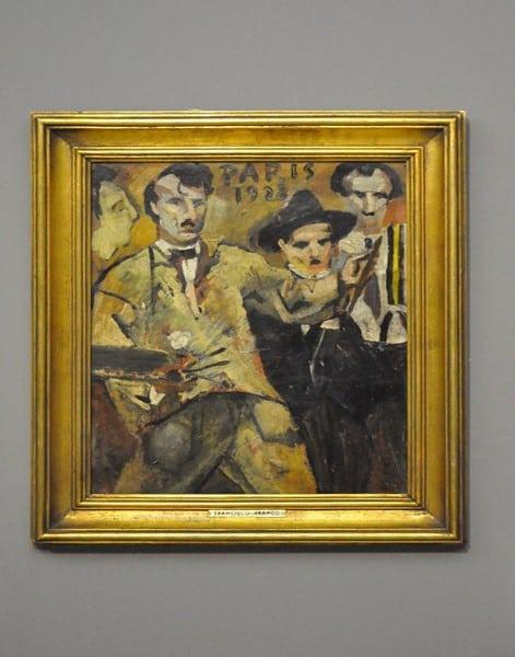 Grupo dos Quatro, 1923, autoria de Francisco Franco.