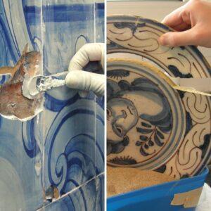 restauro de materiais cerâmicos