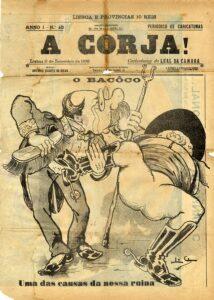 """Leal da Câmara O Bacôco, revista """"A Corja!"""", 1898."""
