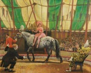 The Trick Act, c.1930, Rochdale Art Gallery, Rochdale, England, UK. (Wikiart)