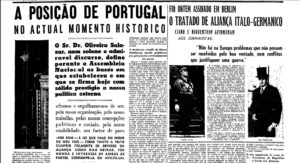 Estado novo em Portugal 2ª guerra mundial