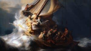 tempestade no mar da galileia detalhe