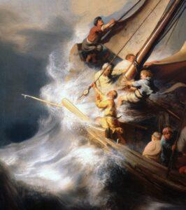 Tempestade no mar da galileia detalhe 1