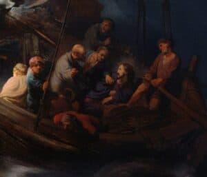 tempestade no mar da galileia detalhe 2