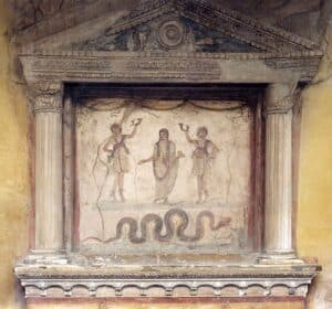 cultos romanos Lararium em Pompeia