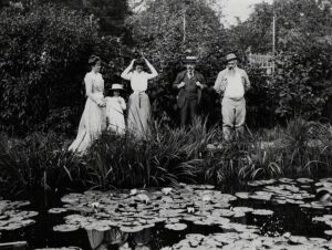 Paul Durand-Ruel and Claude Monet em Giverny, 1900